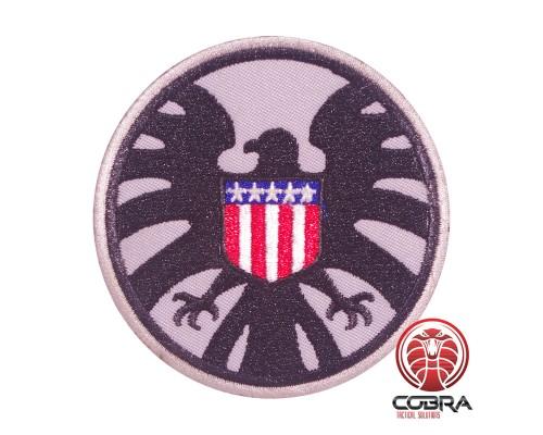 AVENGERS S.H.I.E.L.D. PATCH USA flag grijze geborduurde film patch met velcro