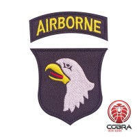 Airborne color geborduurde militaire patch met velcro