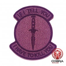 If i tell you i have to kill you grijze patch met velcro
