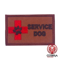 Service dog bruine K9 militaire geborduurde patch met velcro