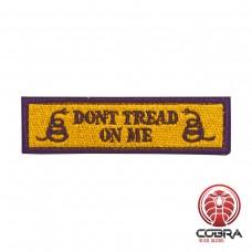 Don't tread on me gele militaire geborduurde patch met velcro