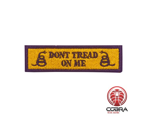 Don't tread on me gele militaire geborduurde patch met velcro