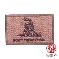 Don't tread on me bruin groene militaire geborduurde patch met velcro