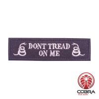 Don't tread on me zwarte militaire geborduurde patch met velcro
