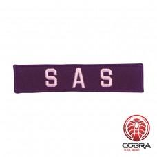 SAS zwart geborduurde militaire patch met velcro