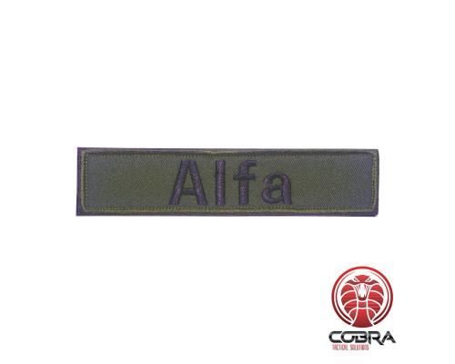 Alfa (spetsnaz) geborduurde militaire patch met velcro