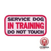 Service hond in training do not touch geborduurde K9 hond patch met velcro