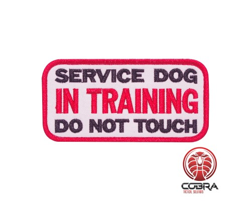 Service hond in training do not touch geborduurde K9 hond patch met velcro