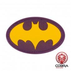 Batman black gold film cosplay PVC patch met velcro