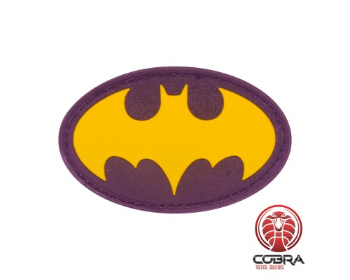 Batman black gold film cosplay PVC patch met velcro