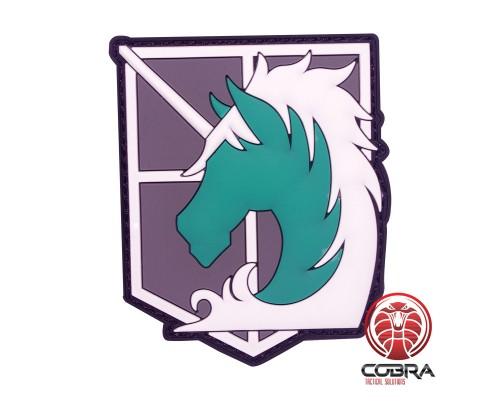 Shingeki No Kyojin Attack Titan Recon Corps Horse Manga patch met velcro