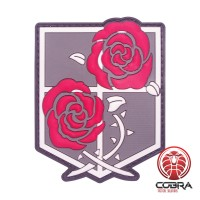 Shingeki No Kyojin Attack Titan Recon Corps Red roses Manga patch with velcro
