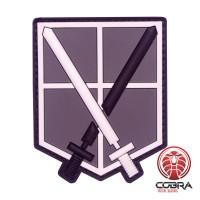 Shingeki No Kyojin Attack Titan Recon Corps Swords Manga patch met velcro