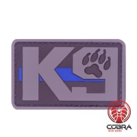 K9 Dog grijze Patch met blue line met velcro