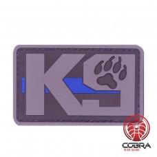 K9 Dog grijze Patch met blue line met velcro