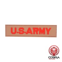 U.S. Army 3D PVC militaire patch bruine met velcro