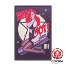 Red Hot Sexy Bomber Pin up Girl Nose Art Morale printed Geborduurde militaire Patch met klittenband