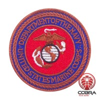 Department of the Navy - United Stated Marine Corps military Geborduurde militaire Patch met klittenband