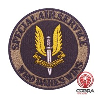 Special Air Service Who Dares Wins SAS Geborduurde militaire Patch met klittenband
