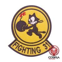 Fighting 31 Tom the cat VFA-31 Strike Fighter Squadron 31 Geborduurde militaire Patch met klittenband