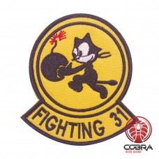 Fighting 31 Tom the cat VFA-31 Strike Fighter Squadron 31 Geborduurde militaire Patch met klittenband