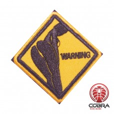 Sexy butt warning sign funny Geborduurde militaire Patch met klittenband