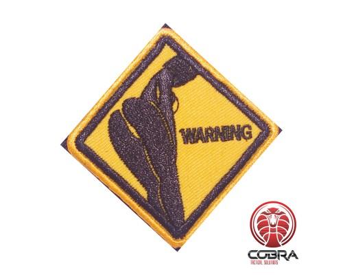 Sexy butt warning sign funny Geborduurde militaire Patch met klittenband