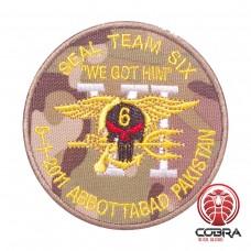 "Seal Team Six ""We got Him"" 5-1-2011 Abbottabad Pakistan Geborduurde militaire Patch met klittenband"