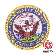 Department of the Navy - United Stated Of America Geborduurde militaire Patch met klittenband