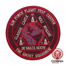 The Ghost Squadron Air Force Flight Test Center Geborduurde militaire Patch met klittenband