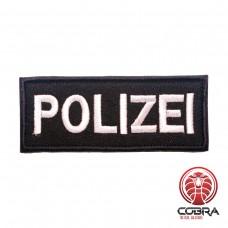 Polizei German Police Black Geborduurde militaire Patch met klittenband