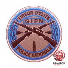 Tireur D'elite GIPN Police Nationale Geborduurde militaire Patch met klittenband