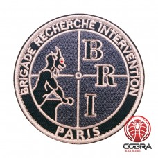 BRI Brigade Recherche Intervention Paris Geborduurde militaire Patch met klittenband