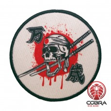 Japan Kamikaze WW2 Ninja Red sun Japan Skull Swords Geborduurde militaire Patch met klittenband