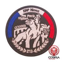 EMP Nimes Pro Patria Vigilant French Police Geborduurde militaire Patch met klittenband