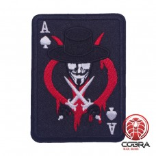 Ace Of Spades Poker Cards Guy Fawkes Mask Anonymous Geborduurde militaire Patch Iron On