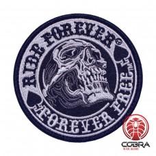 Ride Forever Forever Free Geborduurde militaire Patch met klittenband