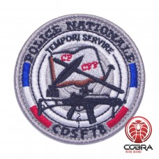 Police Nationale CDSF78 Tempori Servire French Police Geborduurde militaire Patch met klittenband