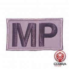 MP Military Police grijze Geborduurde militaire Patch met klittenband