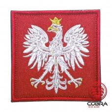 Eagle Austria Red Geborduurde militaire Patch met klittenband