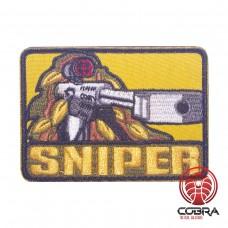 Sniper yellow Geborduurde militaire Patch met klittenband