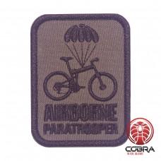 Airborne Paratrooper green Geborduurde militaire Patch met klittenband