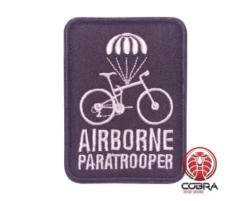 Airborne Paratrooper zwart Geborduurde militaire Patch met klittenband