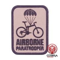 Airborne Paratrooper grijs Geborduurde militaire Patch met klittenband
