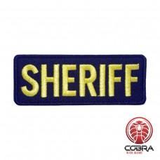 Sheriff black yellow police Geborduurde militaire Patch met klittenband