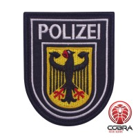 German Polizei Adler police Geborduurde militaire Patch met klittenband