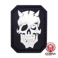 Devil Skull Black PVC Patch met klittenband