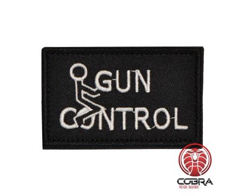 Gun Control Geborduurde militaire Patch met klittenband