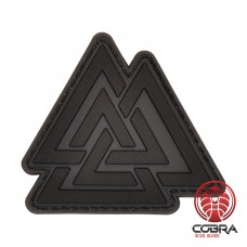 Valknut THE VIKINGS Tactical Triangle gray militaire PVC Patch met klittenband