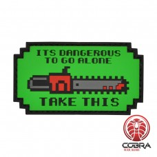 It is dangerous to go alone chainsaw militaire PVC Patch met klittenband